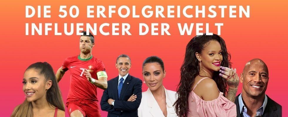 Ronaldo, Rihanna und die Kardashians: Das sind die 50 erfolgreichsten Influencer der Welt