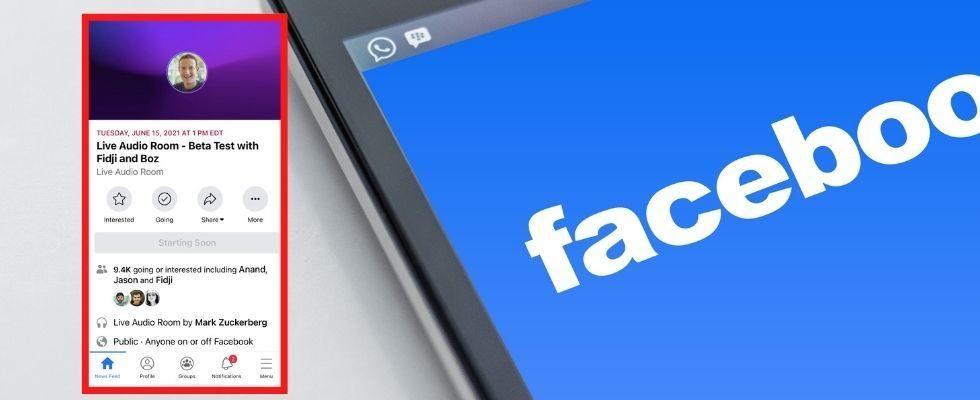 Facebook startet das Live Audio Rooms Feature