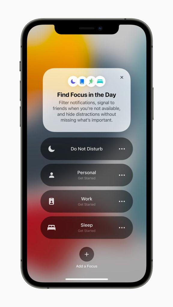 Fokus-Screens bei iOS 15