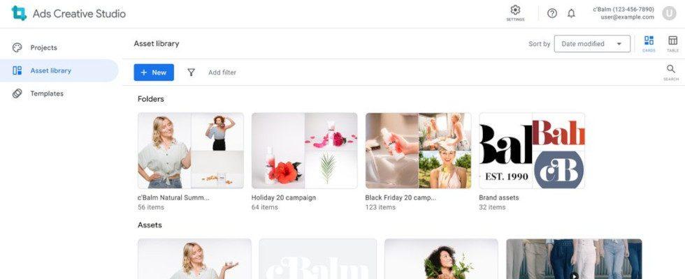 Google führt neues Ads Creative Studio ein