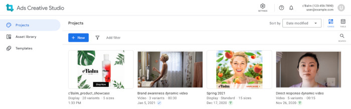 Googles Projektbibliothek