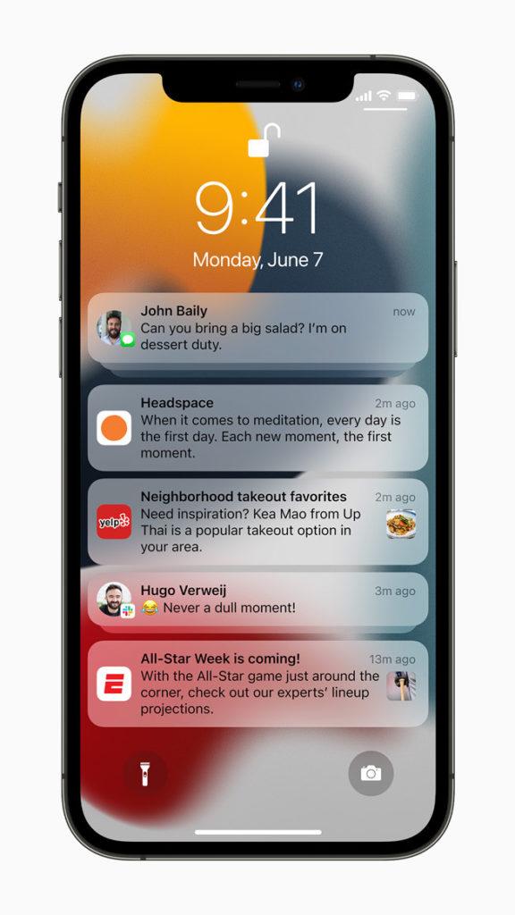 Mitteilungen werden bei iOS 15 noch übersichtlicher