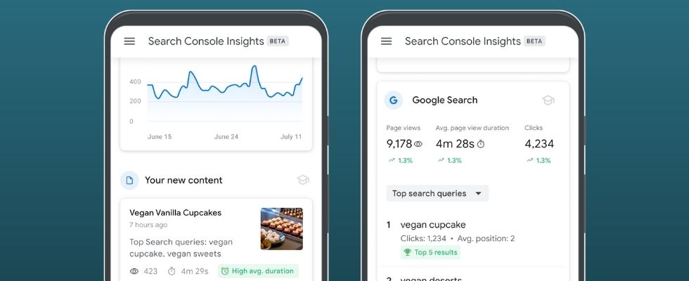 Google startet Tool Search Console Insights