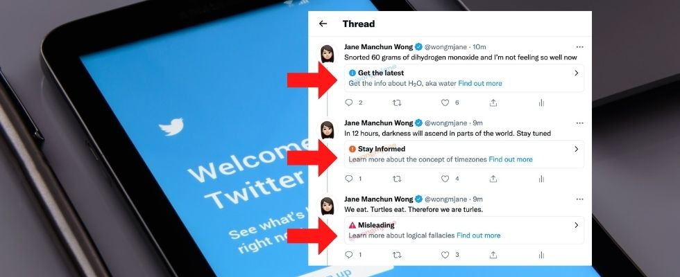 Twitter testet drei Warn-Labels gegen Desinformationen