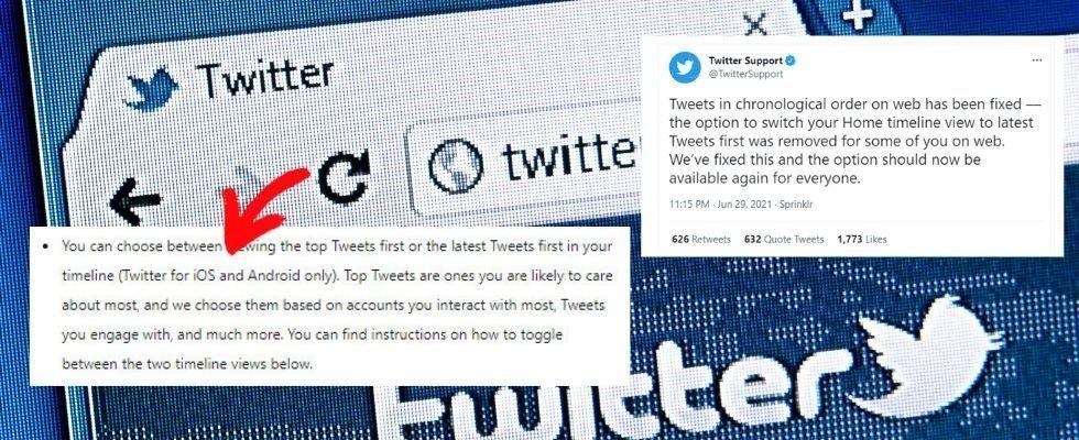 Bug bei Twitter entfernt chronologische Timeline