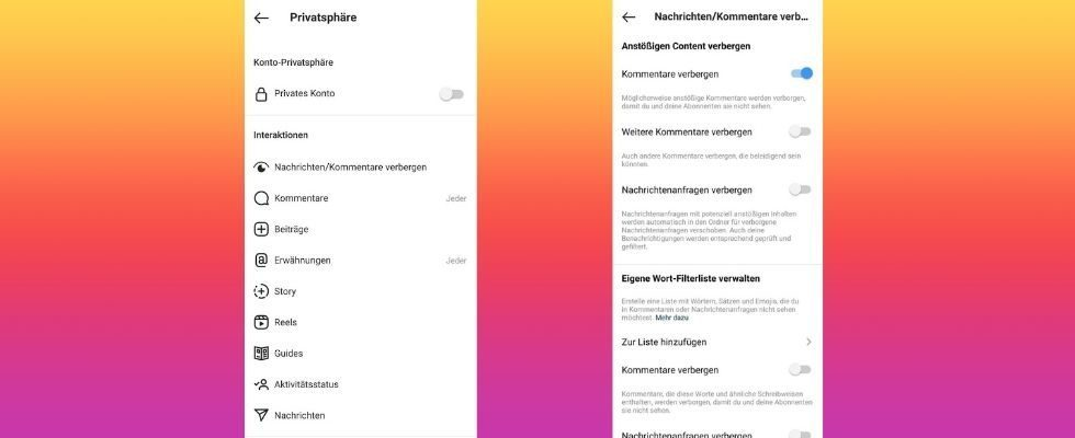Mehr Privatsphäre bei Instagram: Jetzt kannst du Worte und Emojis auf deinem Account ausschließen