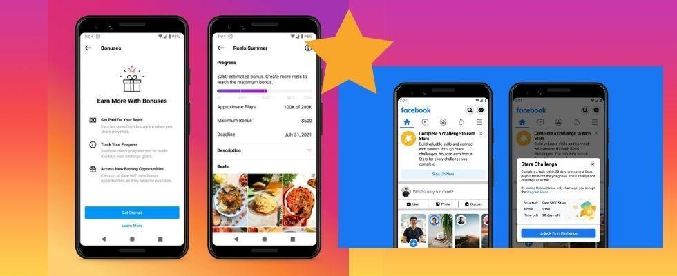 Reels Bonus und mehr: Das sind die neuen Monetarisierungsoptionen auf Instagram und Facebook
