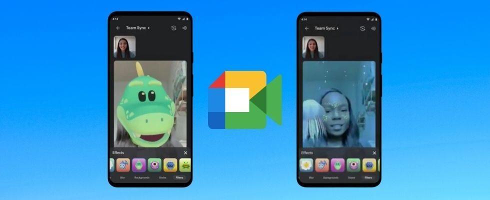 Katze, Dino oder Astronaut: Google Meet führt Filter, Effekte und AR-Masken ein