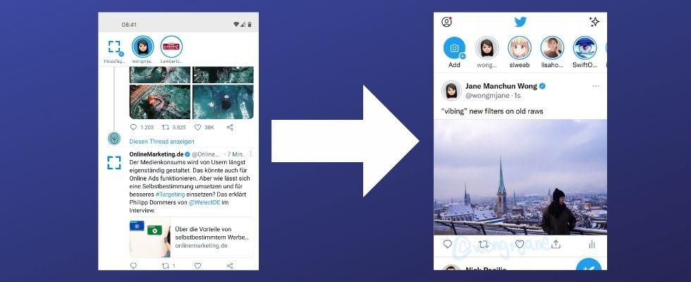 Twitter arbeitet an neuer Timeline: Layout zeigt mehr Platz für Tweet Content