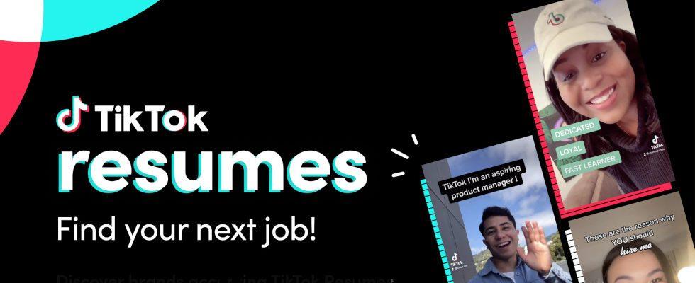 TikTok als Karriereplattform? Neues Feature soll Gen Z bei der Jobsuche helfen