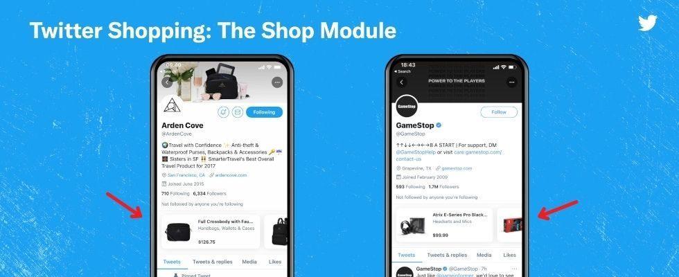 Shopping Module für Business-Profile: Twitter pusht E-Commerce