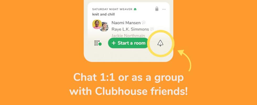 Clubhouse Backchannel: Die App launcht Direktnachrichten