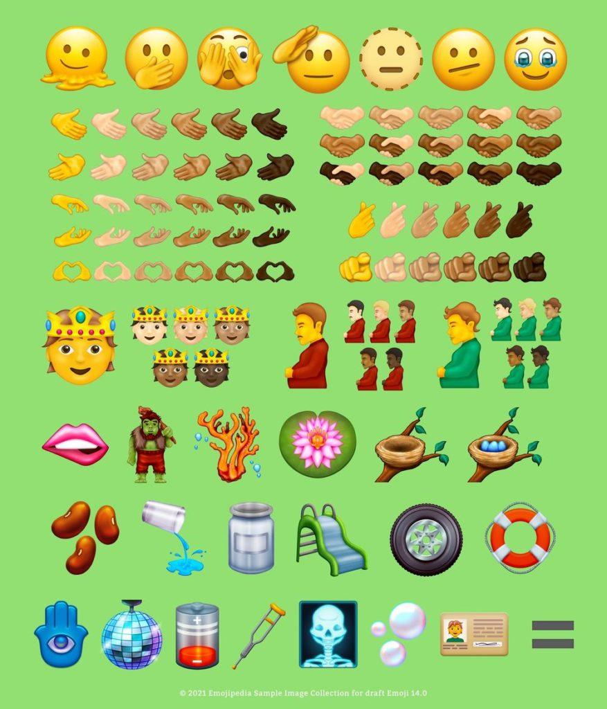 Die finale Liste der Emojis, die ab September für iOS und Android verfügbar sind, © Emojipedia