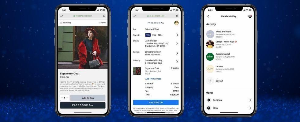 Facebook Pay ist jetzt auch für Third Party Websites verfügbar
