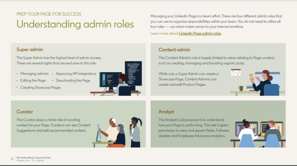 Información sobre la nueva guía de LinkedIn: estas funciones de administrador están ahí, © LinkedIn