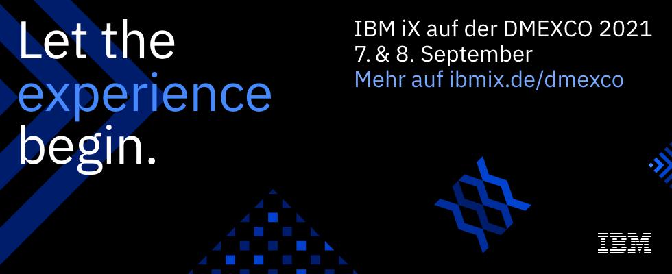 Experience hat Priorität – IBM iX auf der DMEXCO 2021