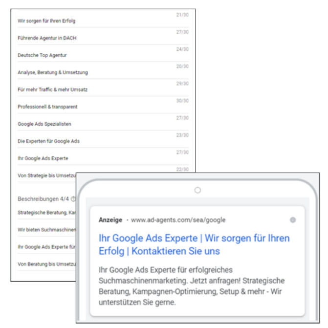 Responsive Search Ads, © ad agents