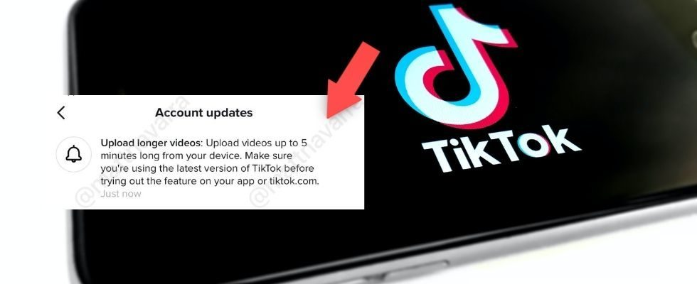 Adios Kurzvideos? TikTok testet Clip-Länge von bis zu 5 Minuten