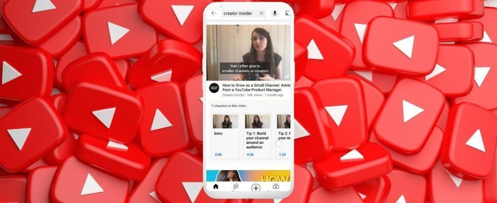 YouTube zeigt Videokapitel visuell in den Suchergebnissen