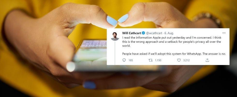 WhatsApp kritisiert Apple: CEO fürchtet um Privatsphäre der User