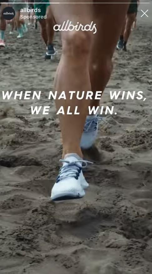 Screenshot aus der Allbirds Facebook Ad