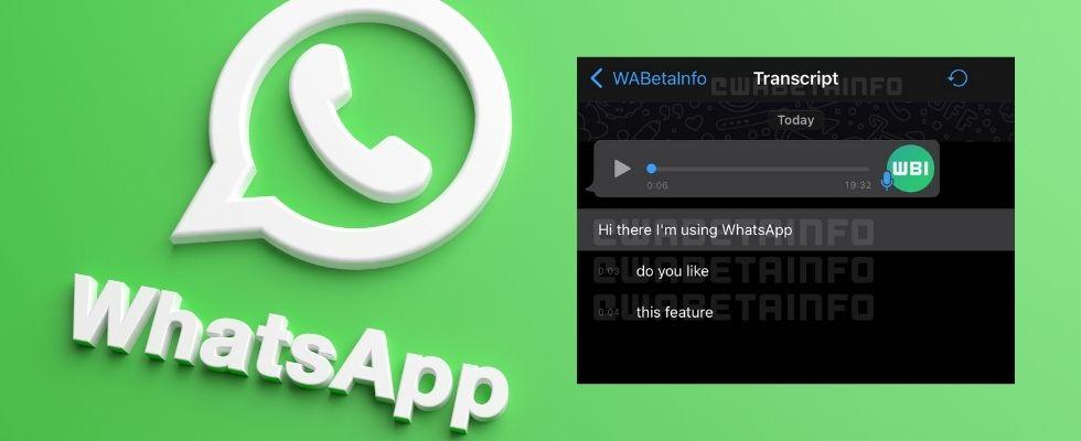 Sprachnachrichten lesen statt anhören: WhatsApp arbeitet an Transkriptions-Feature