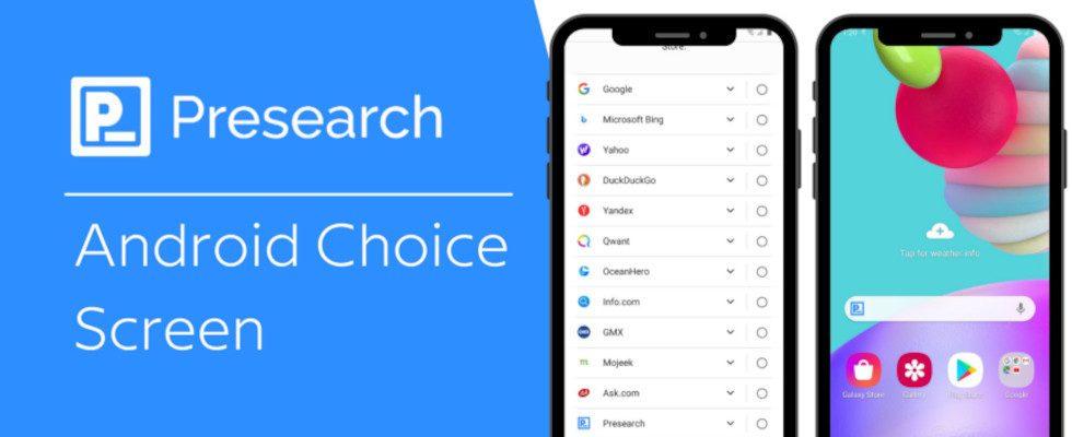 Google fügt Suchmaschine Presearch als Android-Default-Option in der EU hinzu