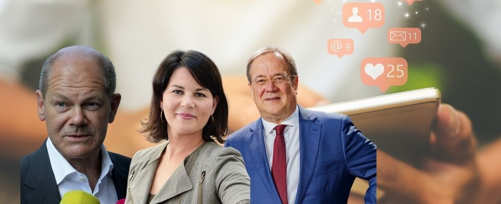 Scholz, Baerbock oder doch Laschet: Wer gibt am meisten Geld für den Social-Media-Wahlkampf aus?