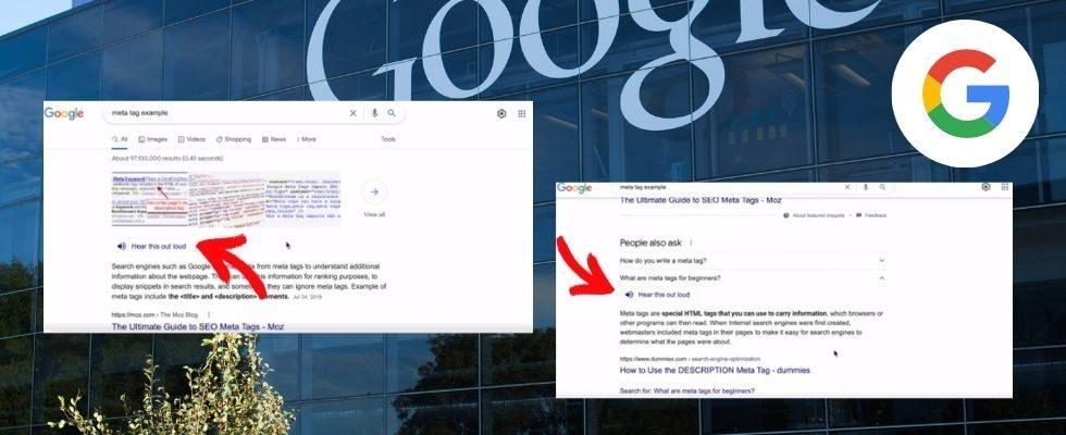 """Google erweitert Test für """"Hear This Out Loud"""" Feature"""