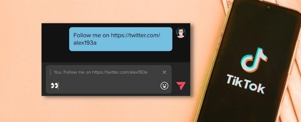 Praktisches Feature: Reply in TikTok Messages