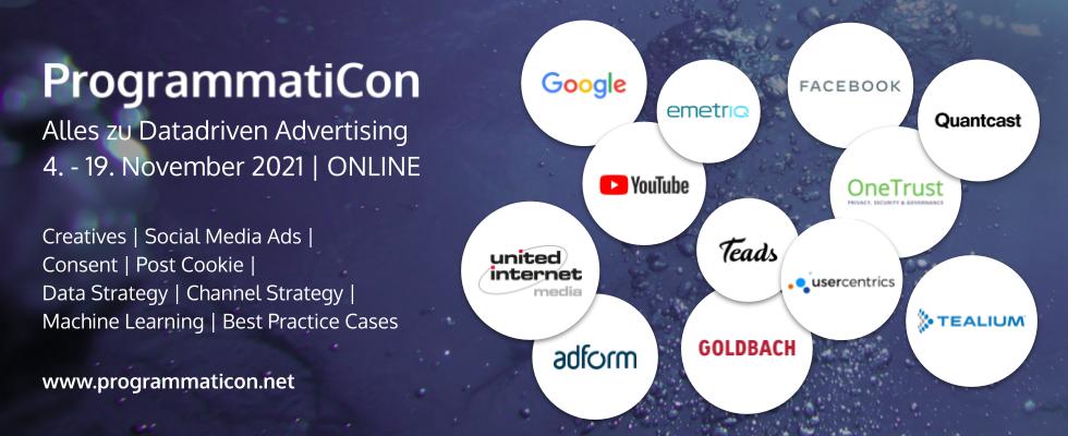 ProgrammatiCon 2021: Keynotes und Trainings mit Google, Facebook und Co.