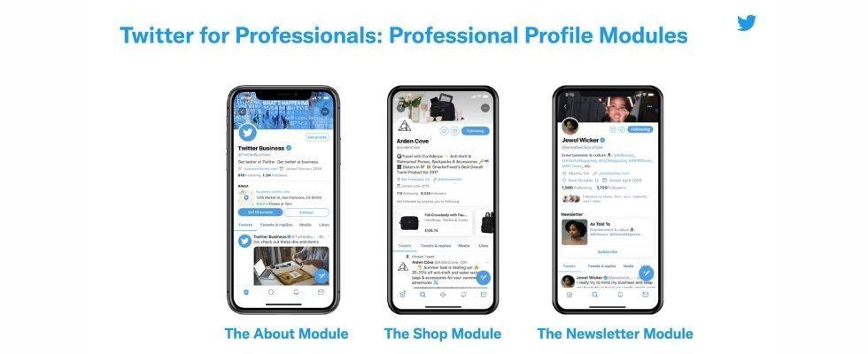 Twitter for Professionals startet: Exklusive Features wie Promote, Newsletter Cards und ein Shopping-Modul