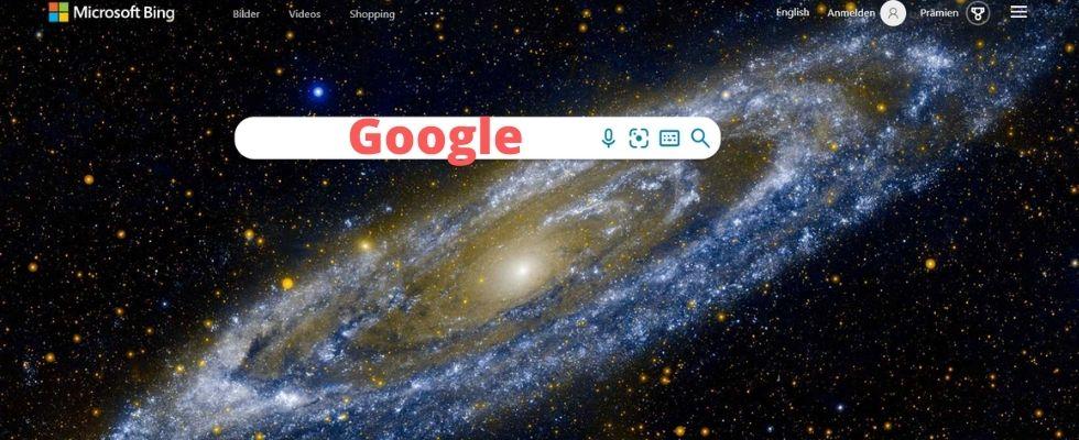 """Nach """"Google"""" wird bei Bing am häufigsten gesucht"""